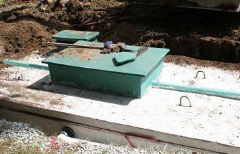 septic system under construction